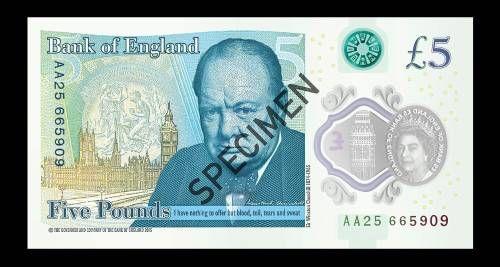 Kritiek op fout Engels bankbiljet