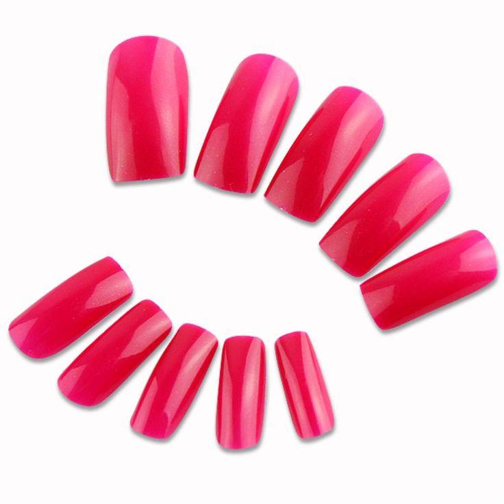 500 pçs/lote elegante falso unhas pontas das unhas falsas Artificial de rosa para decoração de unhas Nail Art ferramenta EG5400 alishoppbrasil