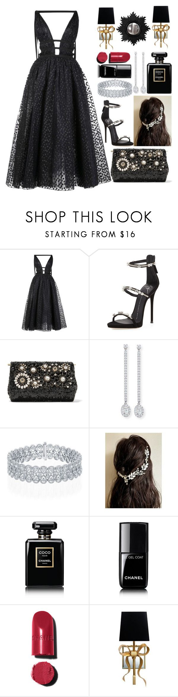 """Graduation Day🎓"" by pulseofthematter ❤ liked on Polyvore featuring Carolina Herrera, Giuseppe Zanotti, Dolce&Gabbana, Messika, Chanel, Kate Spade and Home Decorators Collection"