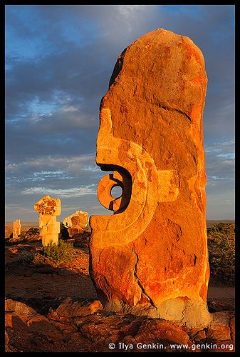 Broken Hill Sculpture Symposium at Sunset, Broken Hill, NSW, Australia