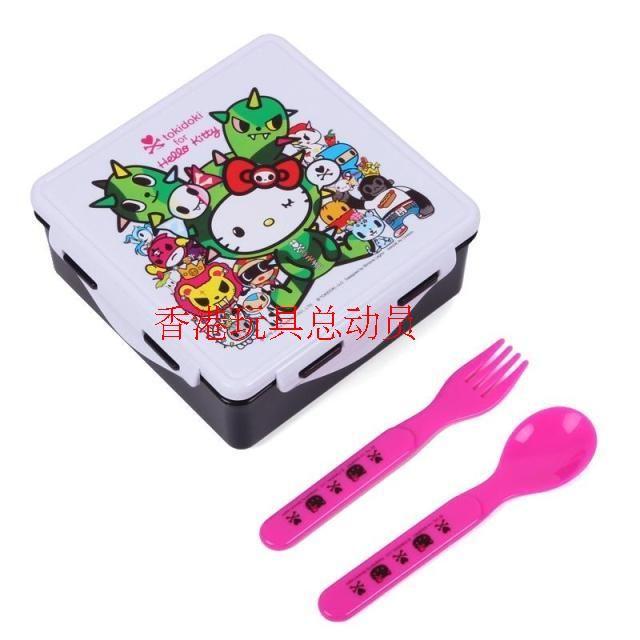 Sanrio три корея чайка KITTY TOKIDOKI история прикрепленный ложка вилка микроволновой печи коробка для завтрака из ворота портативный необходимо