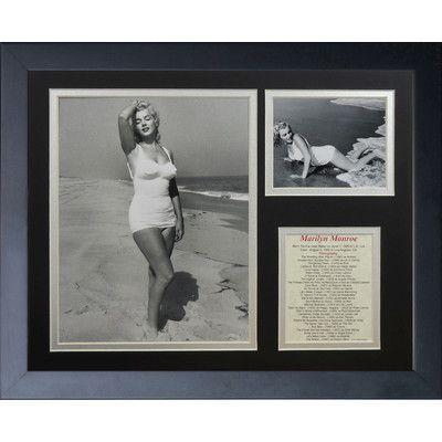 Legends Never Die Marilyn Monroe - B&W Swimsuit Framed Memorabili