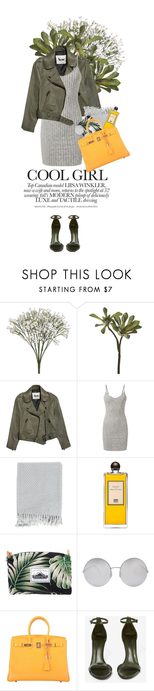 """""""girls@ - Joey Purp, Chance the Rapper"""" by rosa-loves-skittles ❤ liked on Polyvore featuring CB2, Acne Studios, Surya, Serge Lutens, Penfield, Victoria Beckham, Hermès and Schutz"""