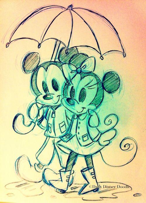 mickey minnie new year drawings