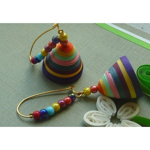 Paper jhumka 6 - Online Shopping for Earrings by Elan..the handmade jewelry store