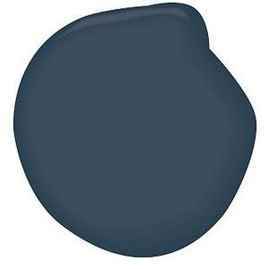 Benjamin Moore Hale Navy - a deep blue-black.  We used this on all 4 walls in home office 14X 15, antique white molding, ceiling.