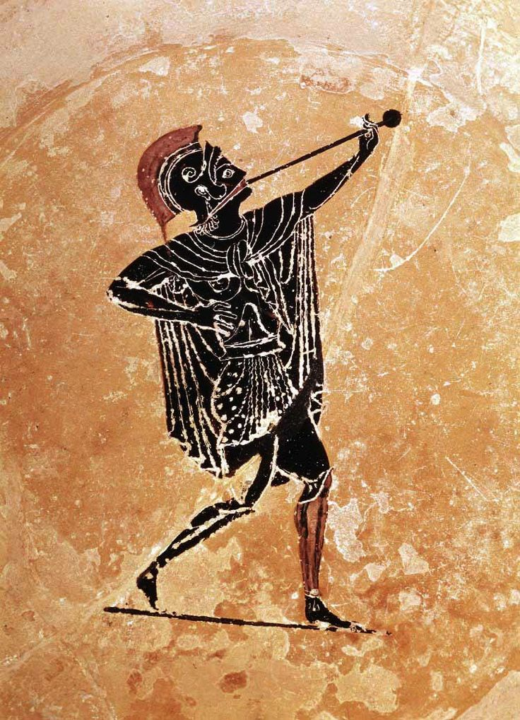 Detail From A Red Figure Pinax 520 500 Bc Psiax Painter Hoplite Soldiers With Trumpet British Greek Art Ancient Greek Art Ancient Greek Pottery