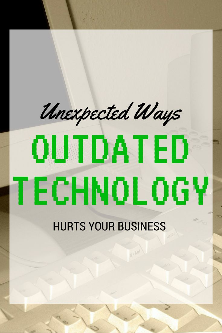 We all know that outdated #technology is annoying – constant computer errors, crashes, waiting minutes for a file to open. But IT that is behind the times can be more severe for a company than inflicting minor irritation and productivity loss. There are ways old tech negatively affects #business that may never have crossed your mind.