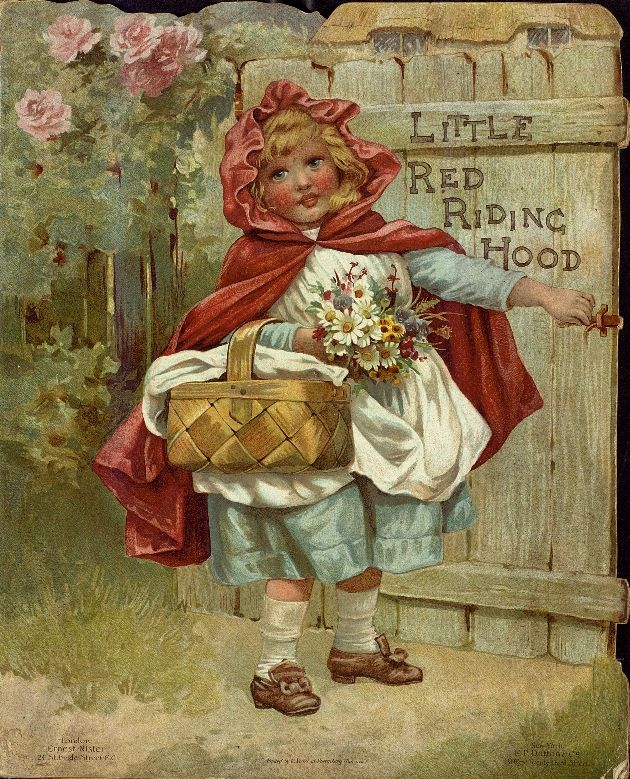 """Little Red Riding Hood"" (1890) Published By Ernest Nister, E P Dutton & Co"