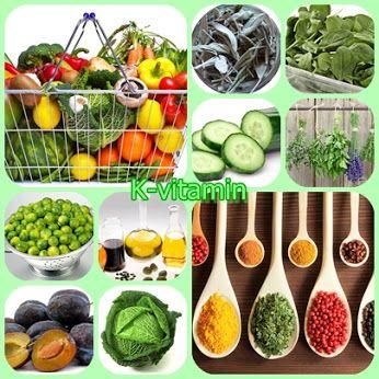 K-vitamint tartalmazó élelmiszerek Top 10...1-->KELKÁPOSZTA, 2-->SPENÓT, 3-->SZÁRÍTOTT GYÓGYNÖVÉNYEK, 4--> FŰSZEREK, 5-->HALOLAJAK, 6-->SZILVA,7-->KERESZTESVIRÁGÚ ZÖLDSÉGEK,8-->UBORKA,9-->MÁNGOLD,10-->KELBIMBÓ