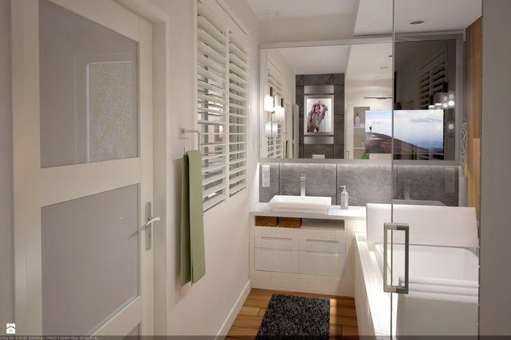 Projekt łazienki w apartamencie Concept House Mokotów - zdjęcie od Projekt Dwa Kwadrat ...