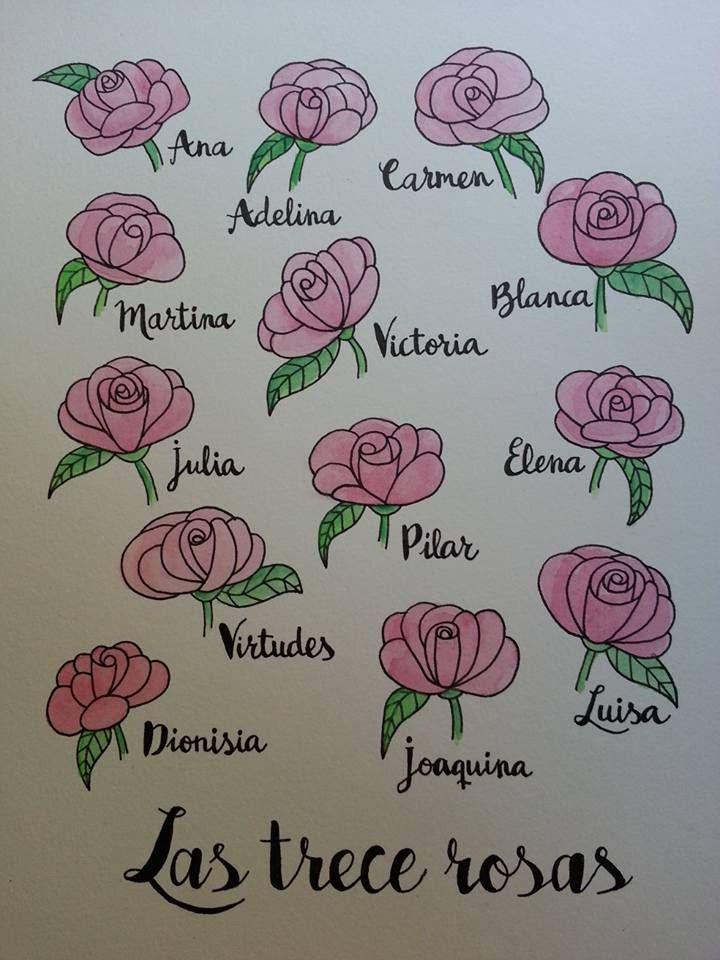 Acuarela 13 rosas Homenaje a la lucha antifascista Mónica Jiménez