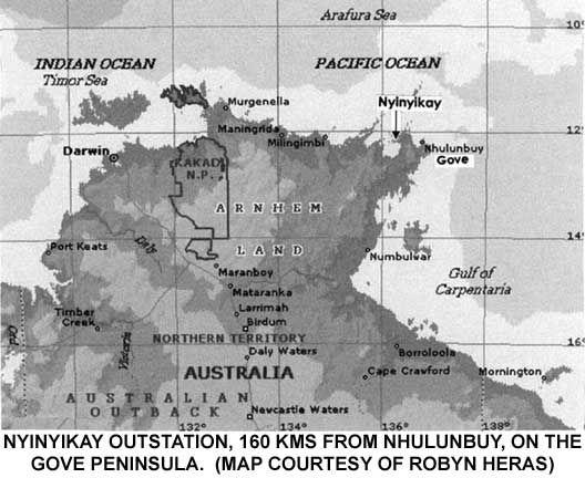 Map of Arnhem Land