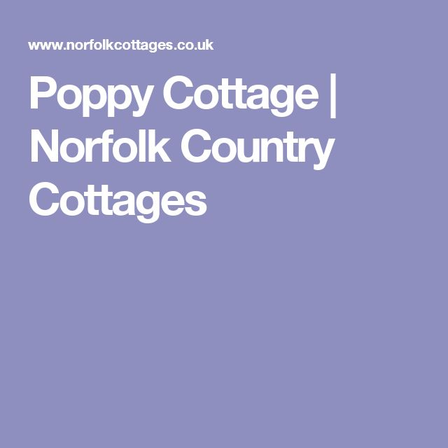 Poppy Cottage | Norfolk Country Cottages