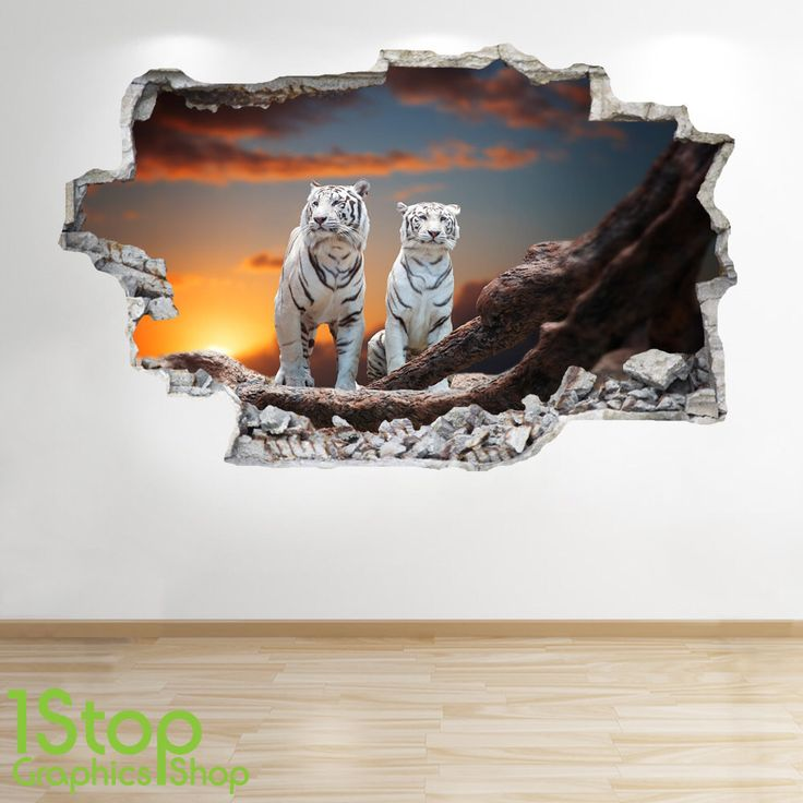 White Tiger Wall Sticker 3d Look - Bedroom Lounge Nature Animal Wall Decal Z189 by 1stopdecalshop on Etsy https://www.etsy.com/uk/listing/509054219/white-tiger-wall-sticker-3d-look-bedroom