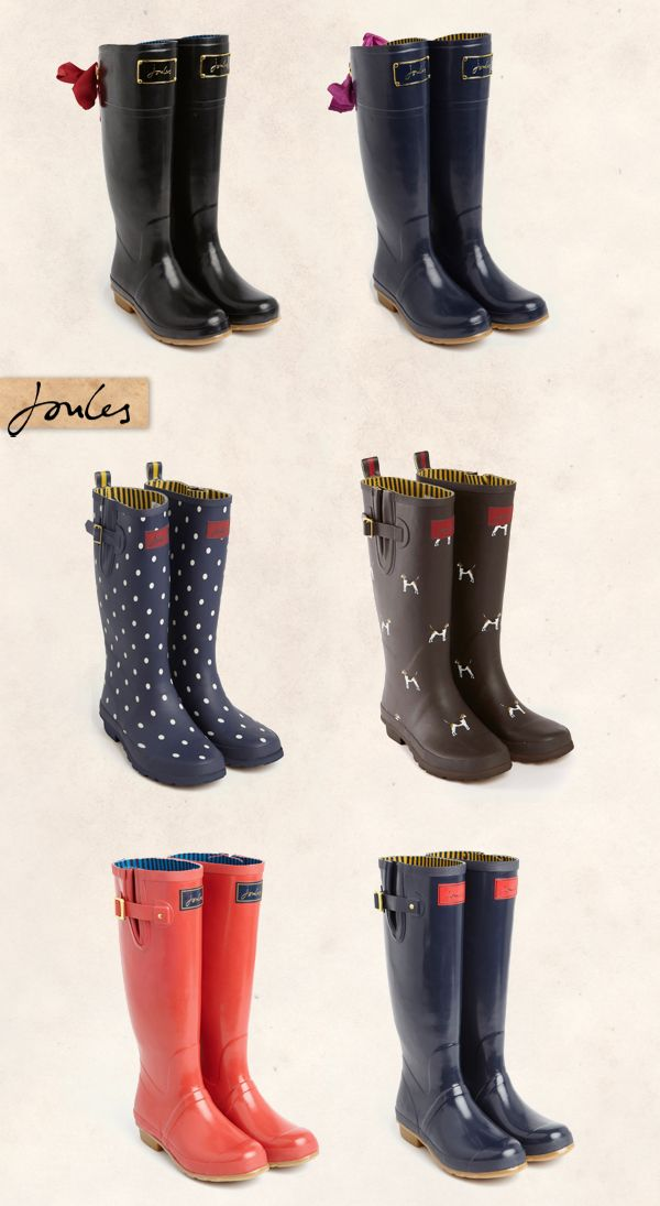 Joules Wellies I love them all apart from the ones with bows they just look silly!