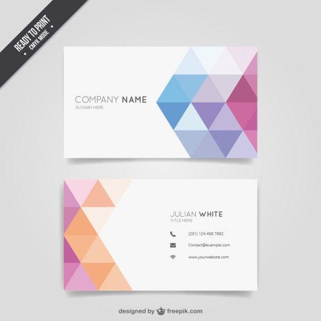 Tarjeta de visita geométrica colorida