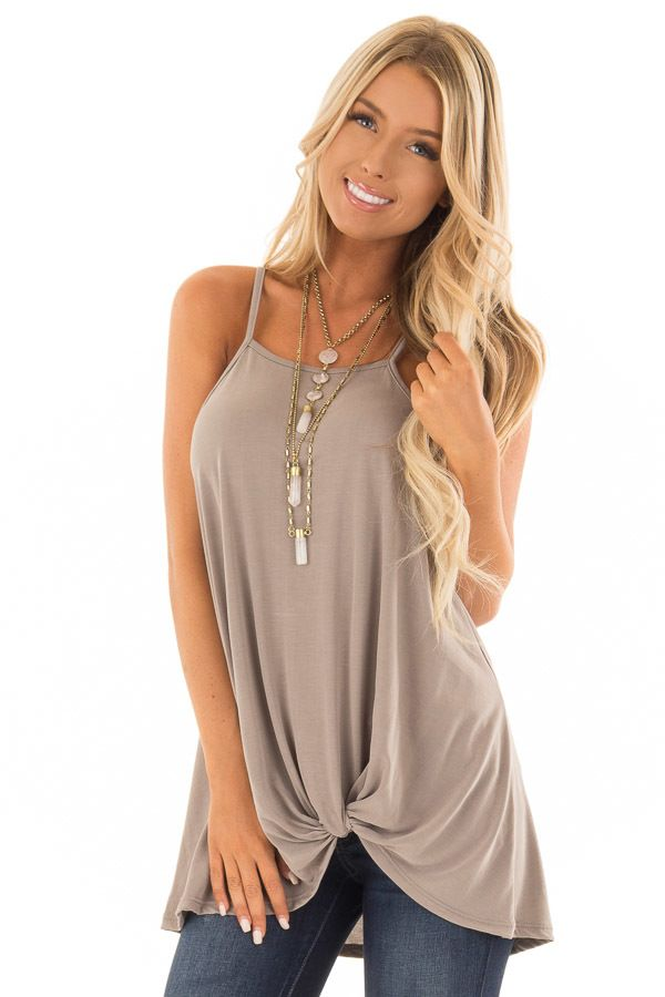 085cfc723c1d Coco Soft Modal Knit Tank with Twist Detail | Awesome Tops in 2019 ...