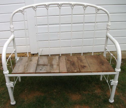 I have two old iron beds that would be perfect for this.  upcycle old garden gates - Google Search
