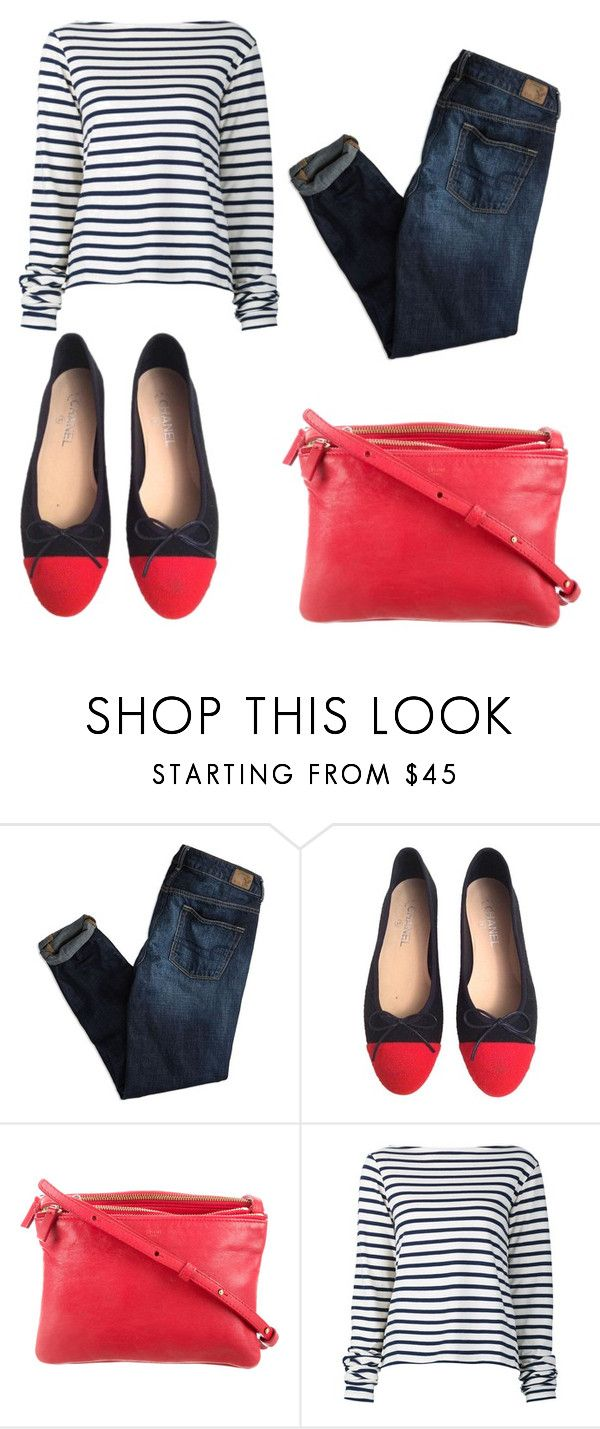 """""""Untitled #18"""" by leenap on Polyvore featuring American Eagle Outfitters, Chanel, CÉLINE and Jacquemus"""