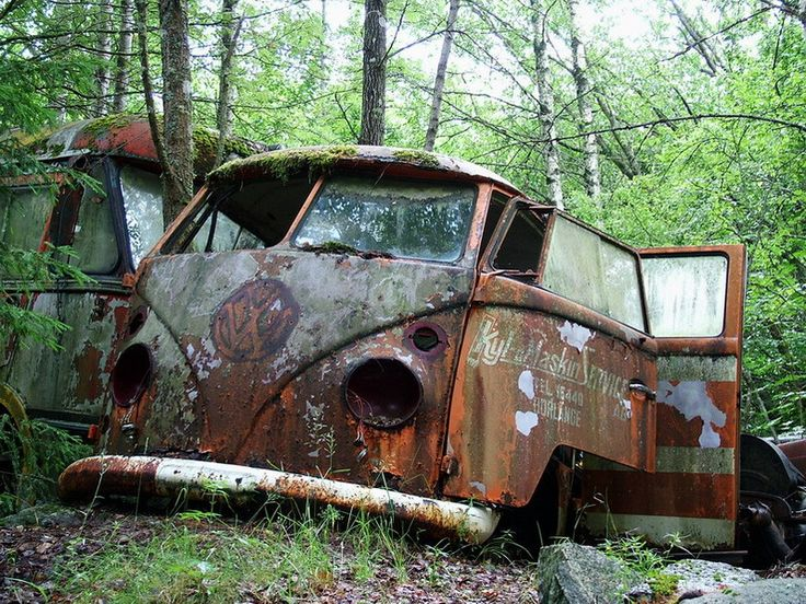 VW van  ohhh i feel so sad for this guy
