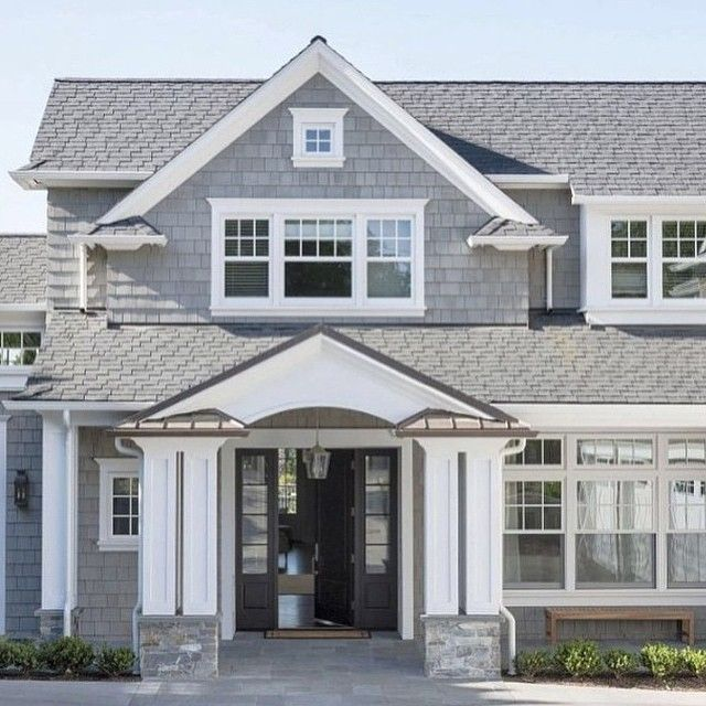 Traditional Shingle Style Front Exterior   I Dont HATE This Shingle Style,  But I Still Donu0027t Like The Actual Shingles! This Shape With Siding Would Be  ...