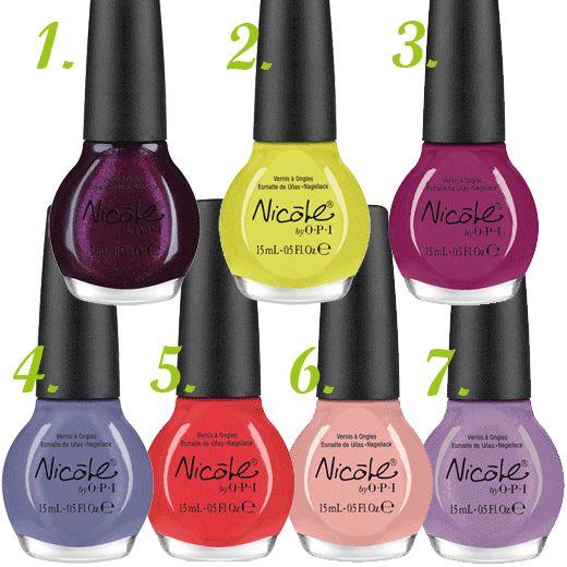 Nail Polish Chart: 124 Best OPI Nail Polish Color Chart Images On Pinterest