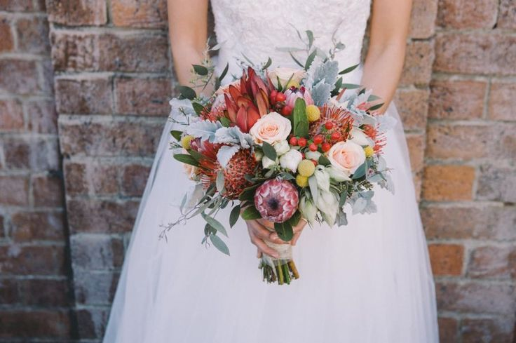 Native and Rose Wedding Bouquet