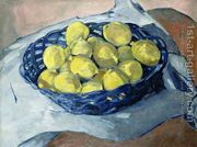 Lemons in a Blue Basket, 1922  by Christopher Wood