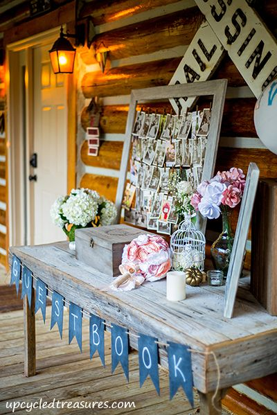 Our Rustic and Romantic Handcrafted Wedding - Upcycled Treasures #diywedding #cabin #rusticchic