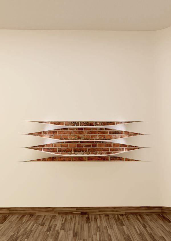 // The wall shelves by Rui Silva, via Behance