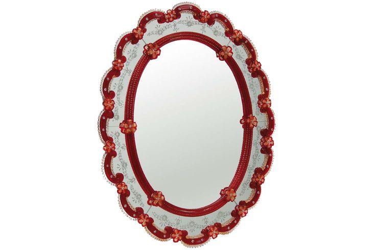 #Specchio #rosso Specchio rosso. H. 100 cm – ø. 80 cm Disponibili su richiesta varianti di dimensioni e colori.