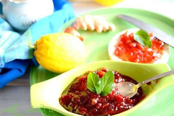варенье из клубники с лимоном и мятой фото