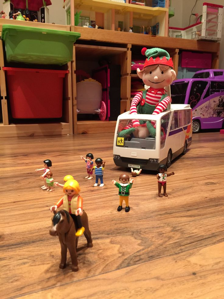 Naughty naughty Elf, Stanley! You mustn't chase the Playmobil people.