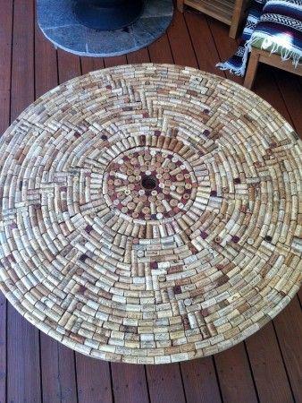 Manualidades con tapones de corcho: alfombra