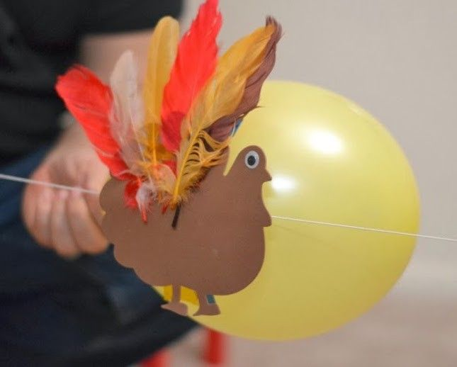 Your kiddos will have a blast with these turkey rockets.