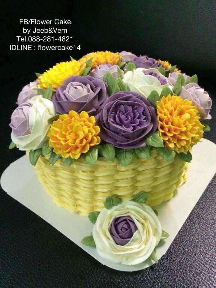 FB//Flower cake by Jeeb&Vem  IDLINE : flowercake14 Nakhonsawan Thailand
