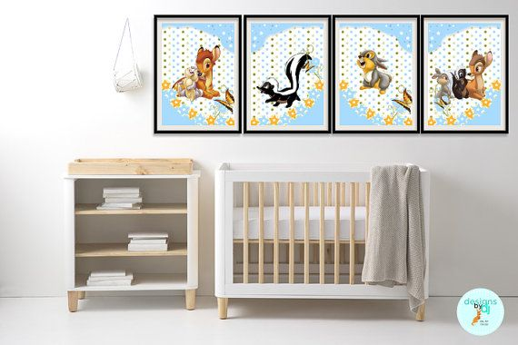 SALE  //  HALF Price Till End of November  //  Bambi Deer Nursery by DesignsByDjKidsArt