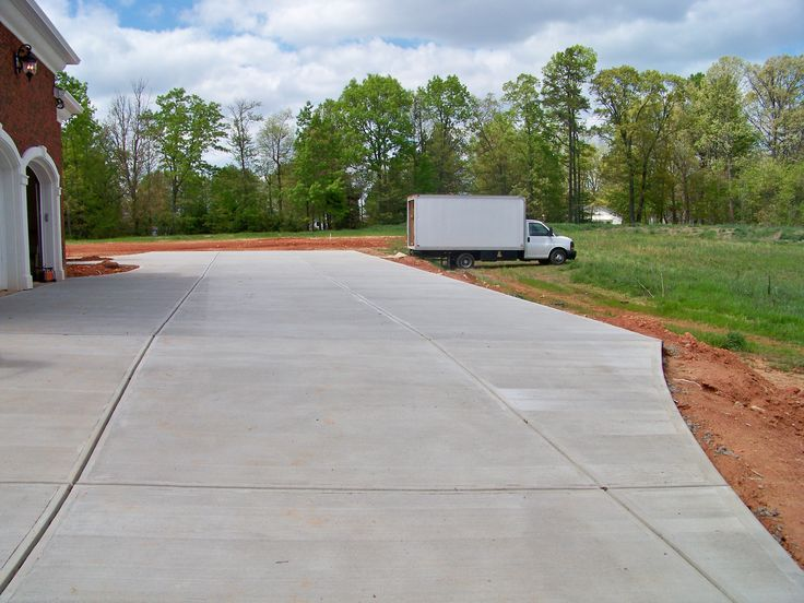 23 best images about concrete driveways on pinterest the for New concrete driveway