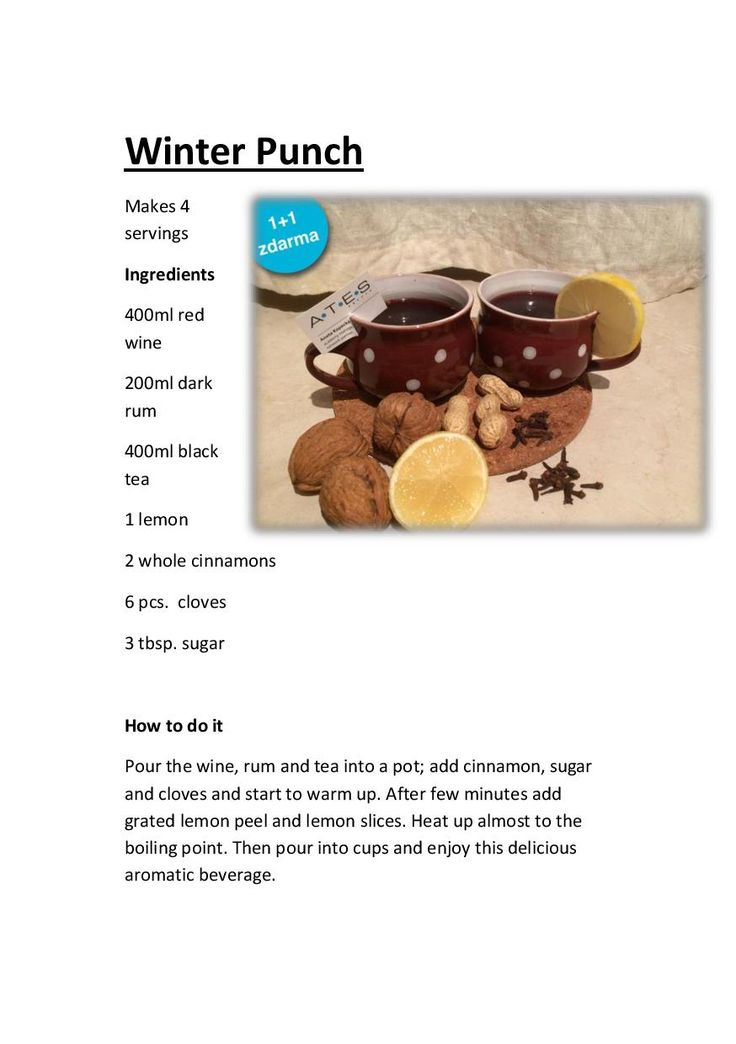 Delicious winter punch
