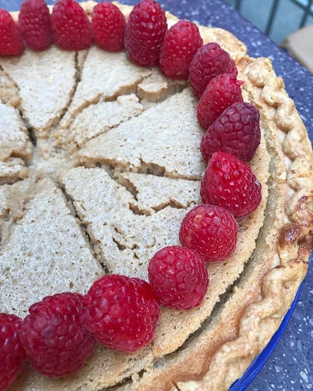 Check it my game day recipes on the today show website! This is an Indiana sugar pie.  So good. So simple -@guarnaschelli