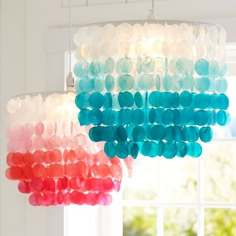 "Read More""Ombre Capiz Chandelier 