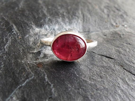 Pink Tourmaline Ring Handmade Sterling by GlassHouseLampwork
