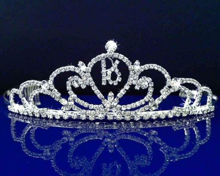 sweet 16 tiaras | Sweet 16 Birthday Princess Party Prom Crown Crystal Tiara 5069S5 ...