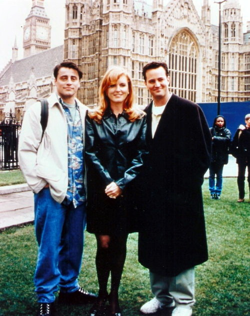 Friends in London: Matt LeBlanc, Sarah Ferguson, and Matthew Perry