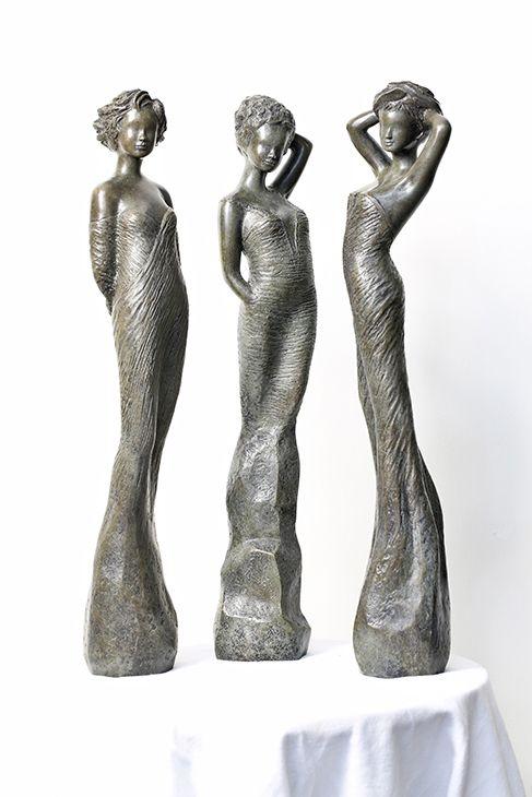 Jean-Philippe Richard, Sculptures de femmes - sculpteur en Provence - Sculptures en terre, email, bronze
