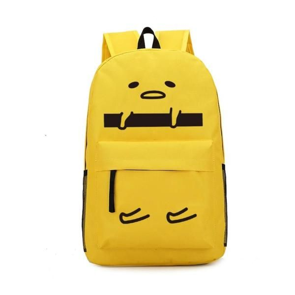 Gudetama yellow cute drawstring backpack shoulder bag shopping bags unisex