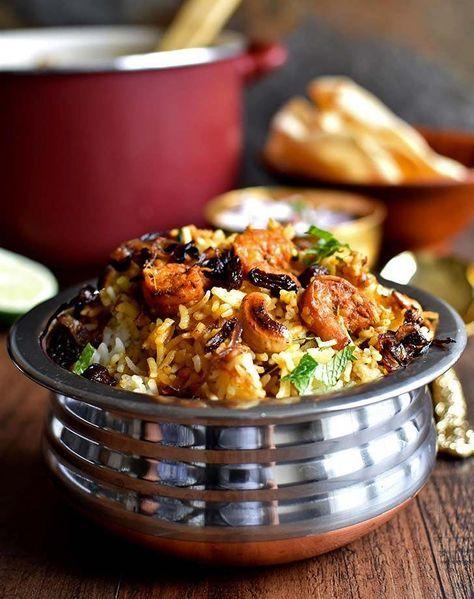 indian prawn biriyani Indian food
