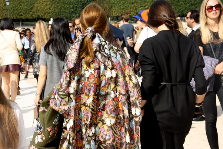 Butterflies. Paris Fashion Week Streetstyle, by Lois Spencer-Tracey of Bunnipunch