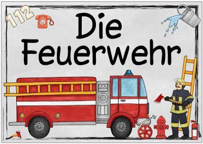 """Sachunterricht in der Grundschule: Themenplakat """"Feuerwehr"""""""